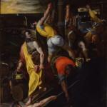 Giorgio Picchi Lo sbarco di San Marinonel porto di Rimini 1595 olio su tela Rimini Chiesa dei Santi Bartolomeo e Marino (3) copia